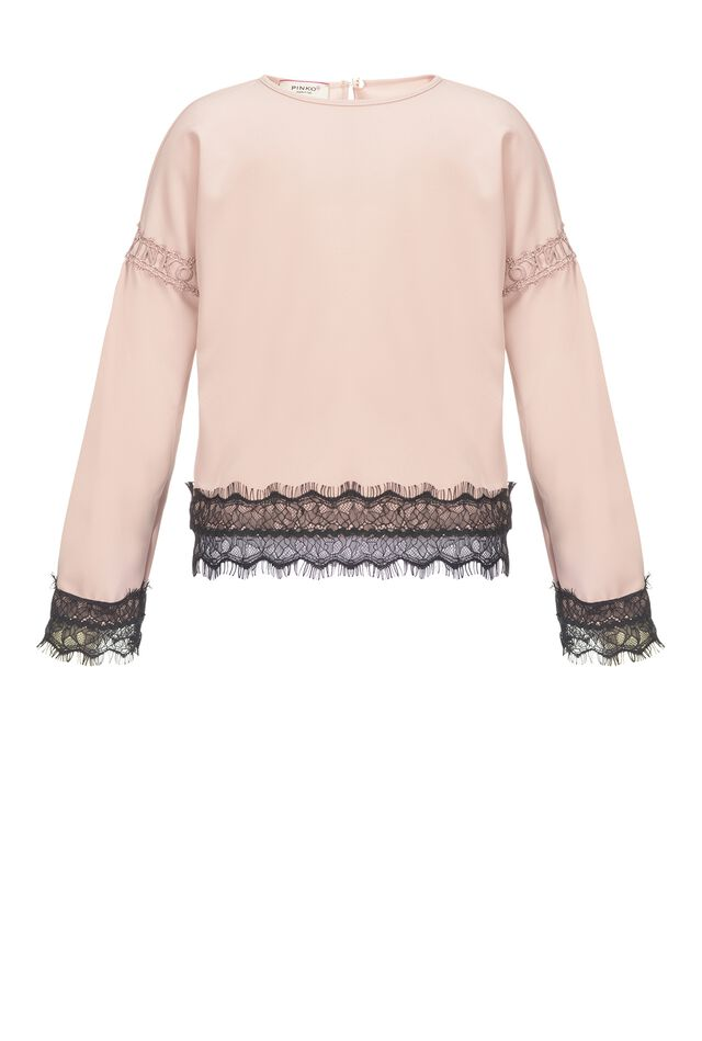 Georgette blouse with lace