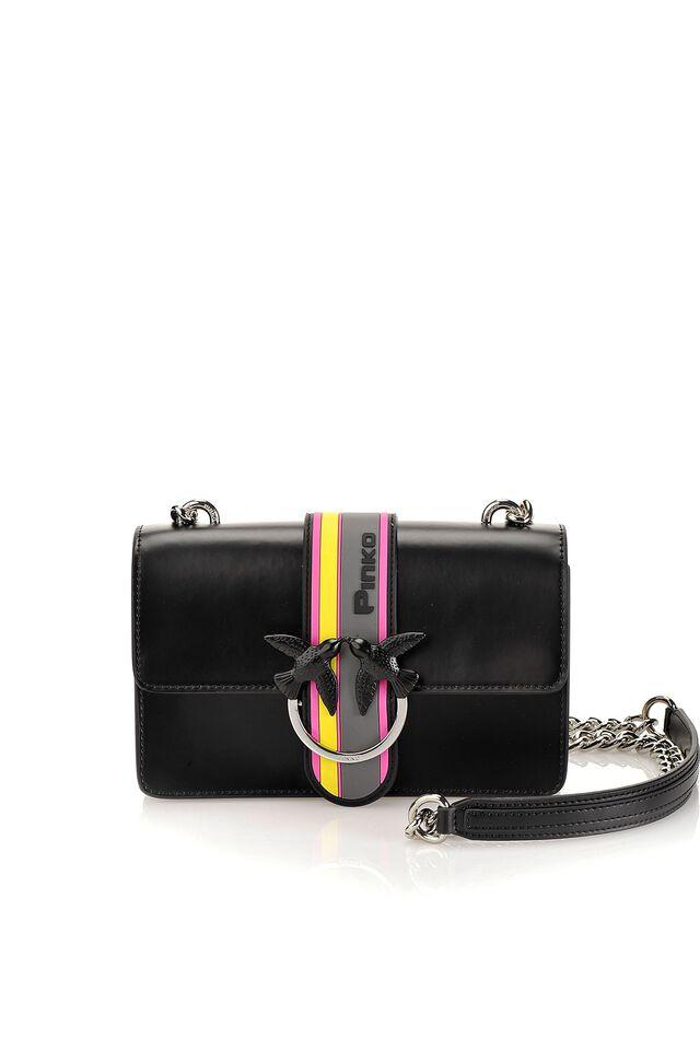 Mini Love Bag Sport in pelle abrasivata e dettagli gommati