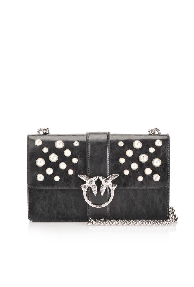Love Bag Pearls in pelle con perle