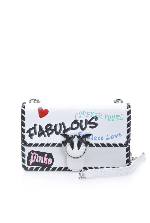 Love Bag Fabulous con stampa graffiti e infilature