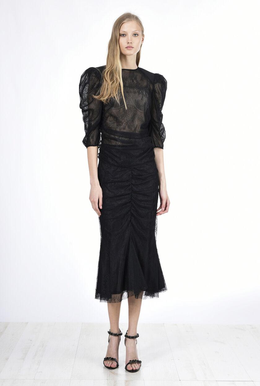 Falda de encaje valencienne