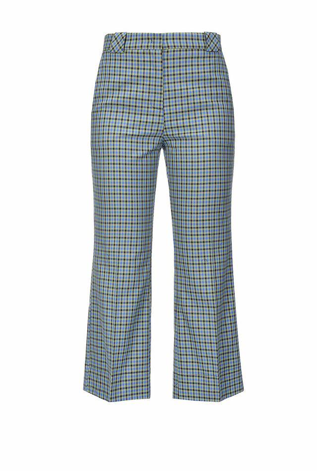 Pantaloni in nattè disegno check