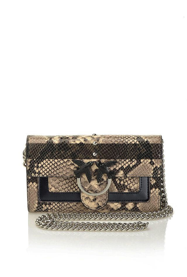 Python print leather wallet with shoulder strap