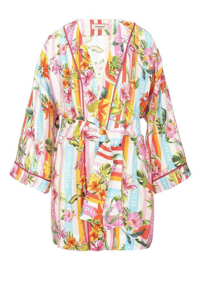 Kimono in viscosa stampa baiadera