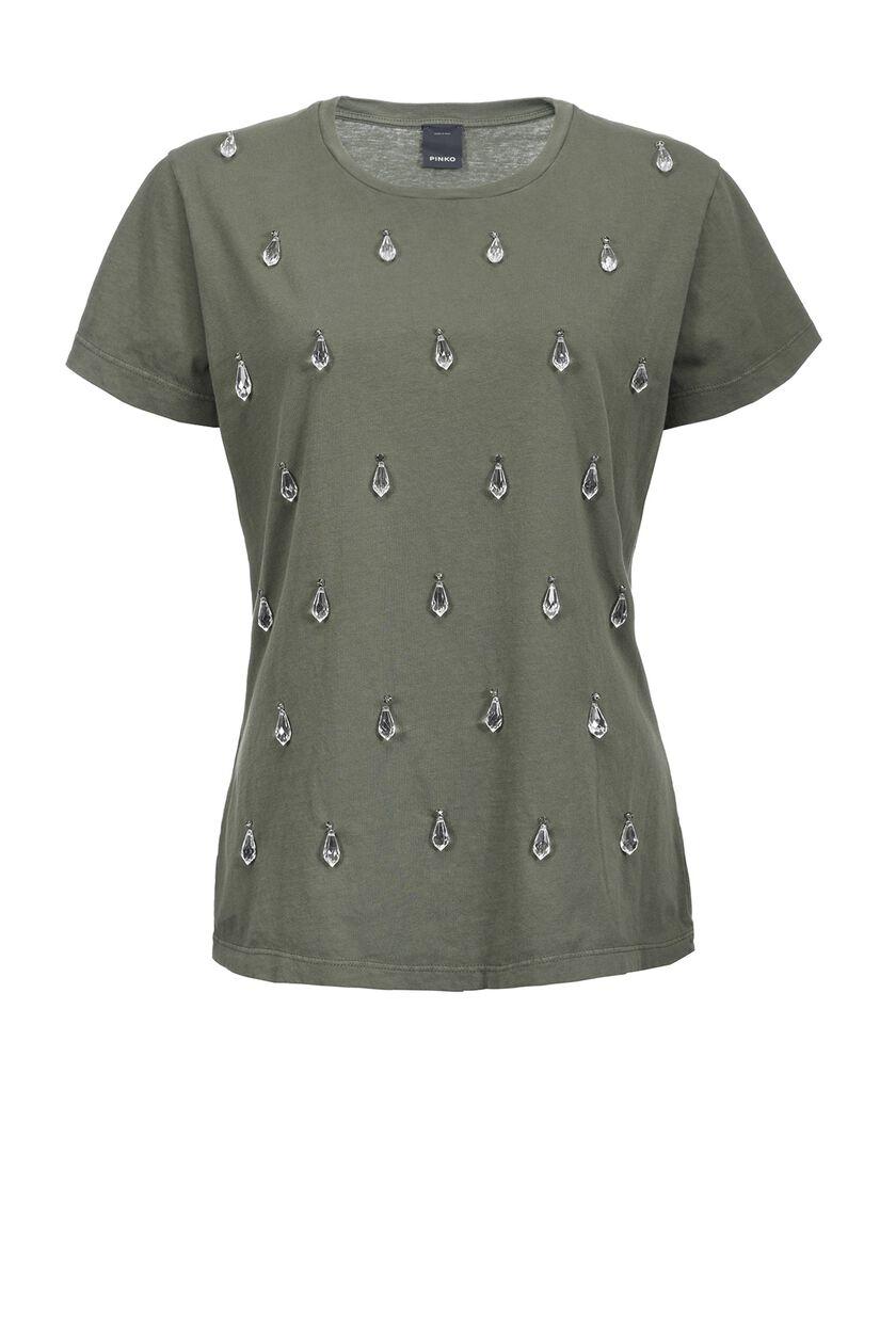 Jersey T-shirt with appliqués