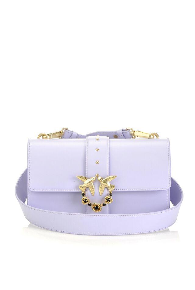 Love Bag Simply in pelle con fibbia gioiello