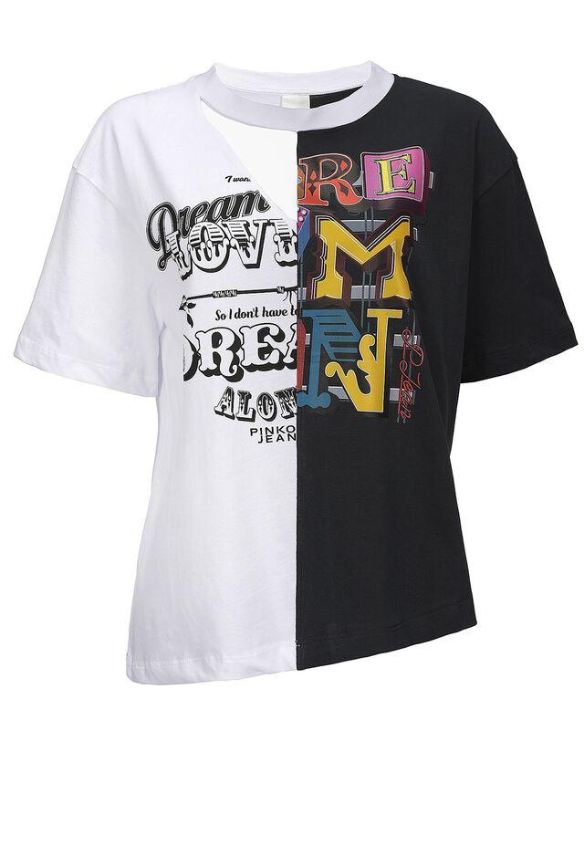 Print patchwork T-shirt