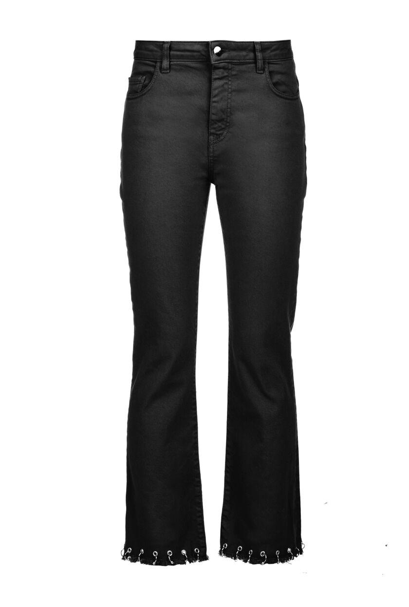 Pantalón de 5 bolsillos de corte regular en dril denim