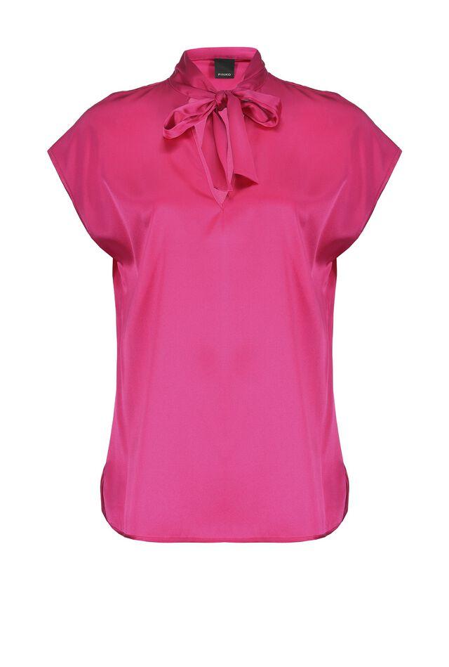 Stretch satin blouse