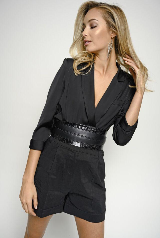 Linen and viscose cloth shorts