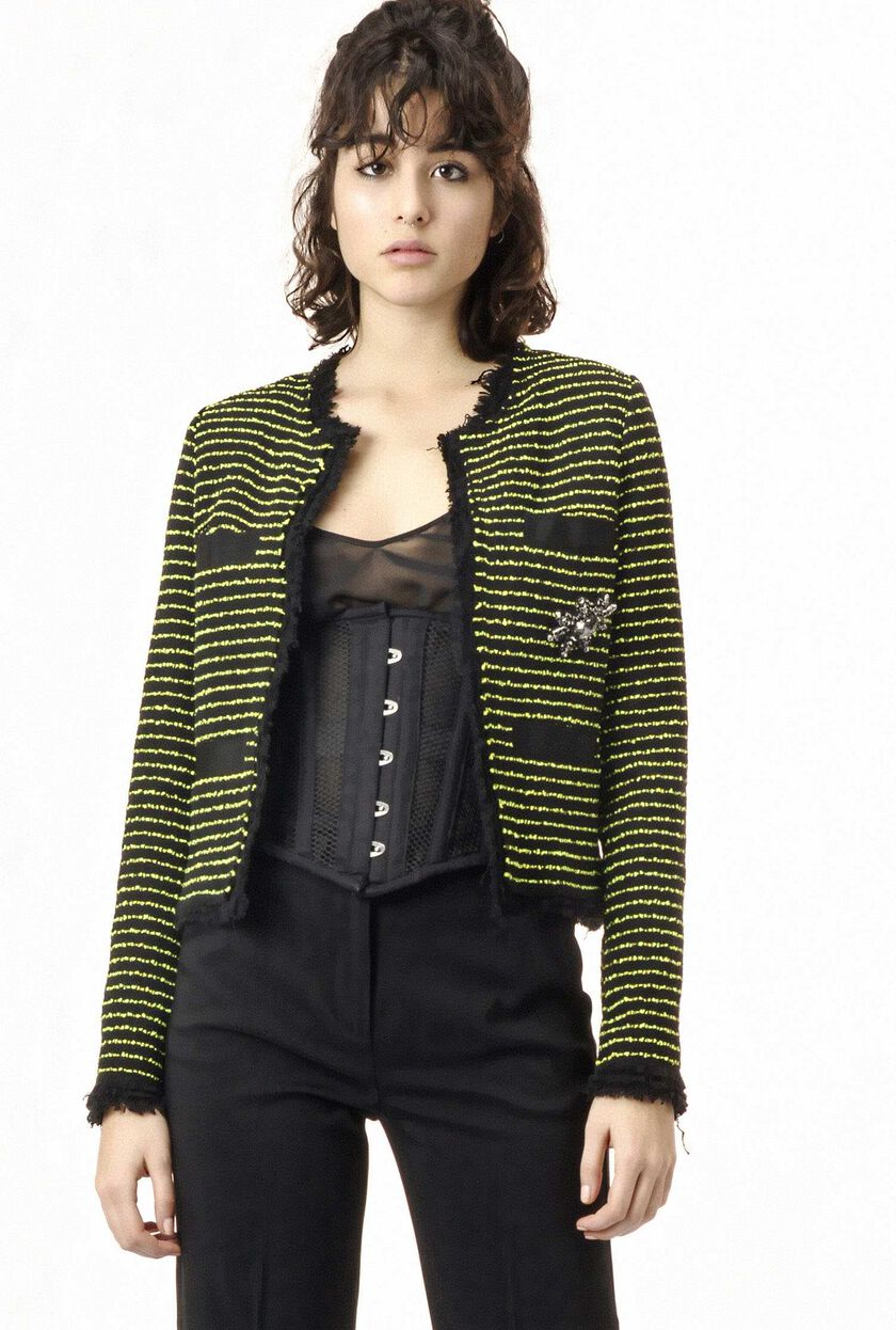 Tweed pinstripe jacket
