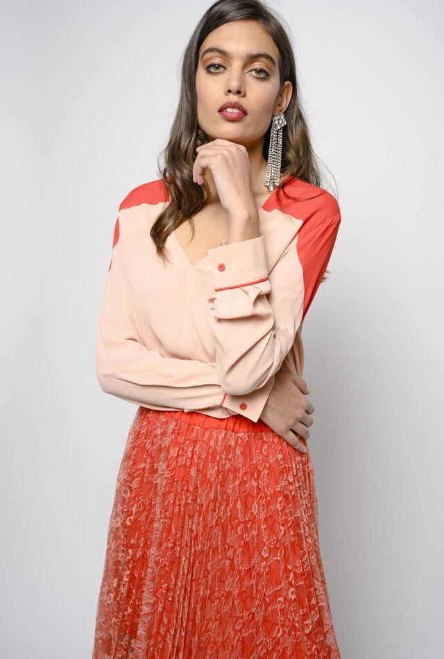 """Блуза в стиле """"колор-блок"""""""