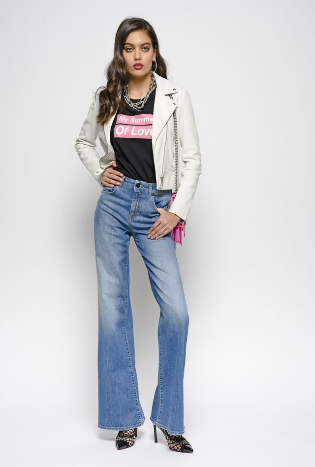 Jeans flared-fit in denim comfort