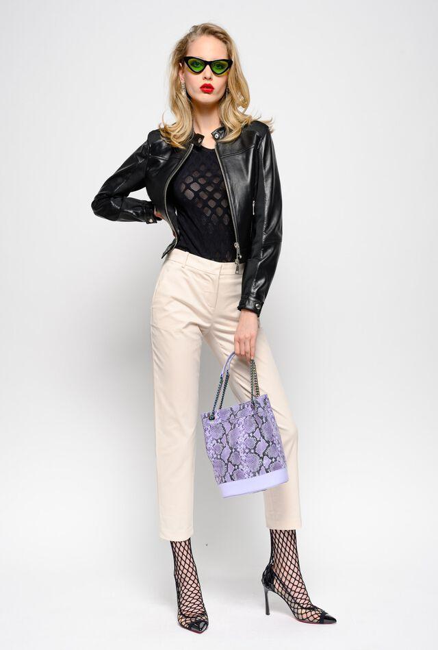 Pantaloni cigarette-fit luxury gabardine