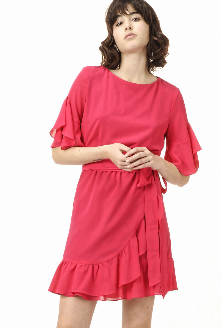Dress in micro crepe