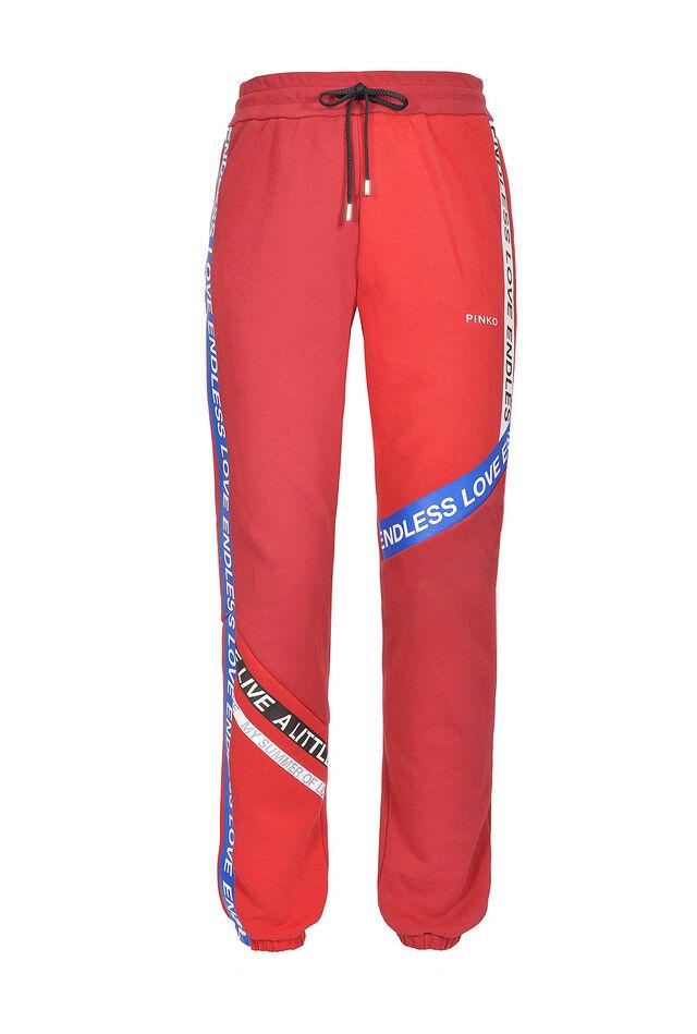 Pantaloni joggers in felpa di cotone
