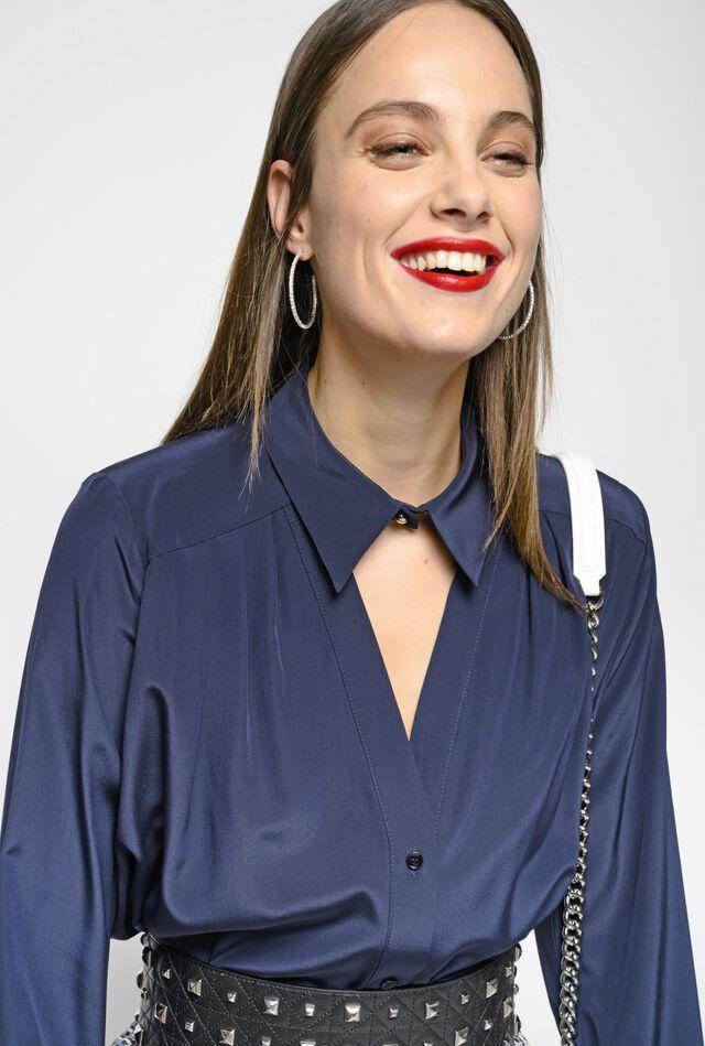 Camicia in crêpe de Chine di seta