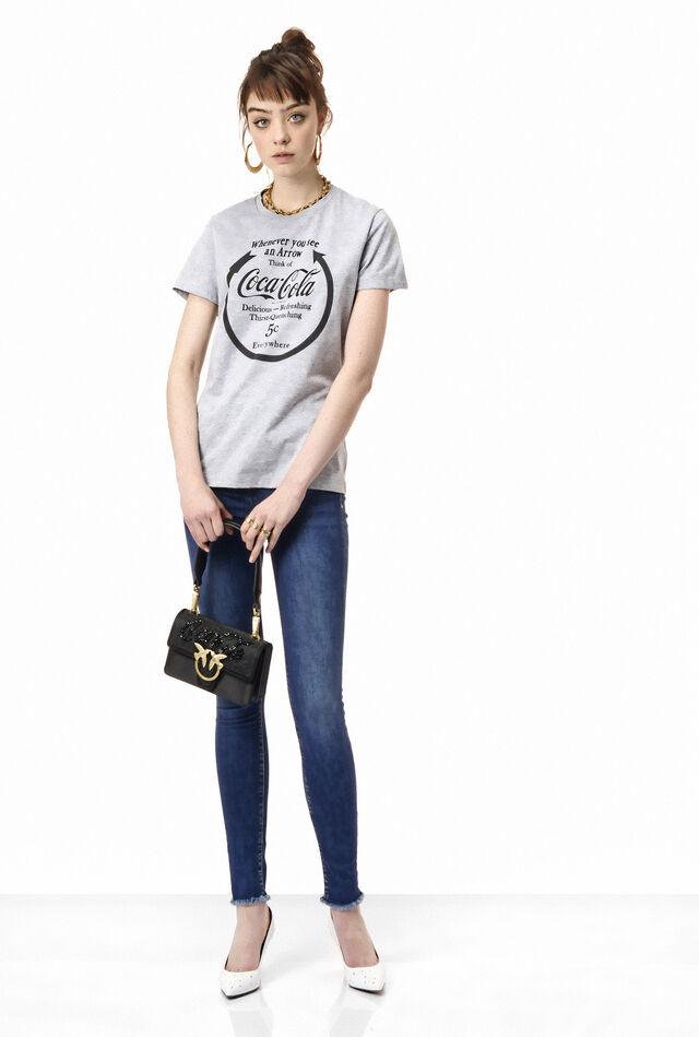 Camiseta de punto liso y encaje