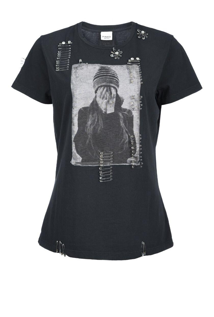 T-shirt con stampa in jersey di cotone