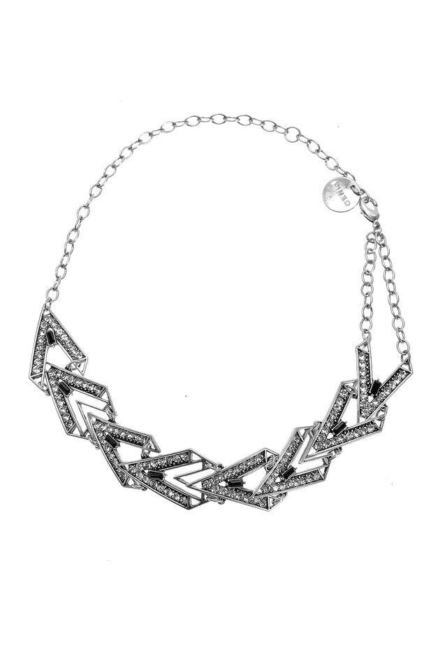 Collana a catena in metallo con strass