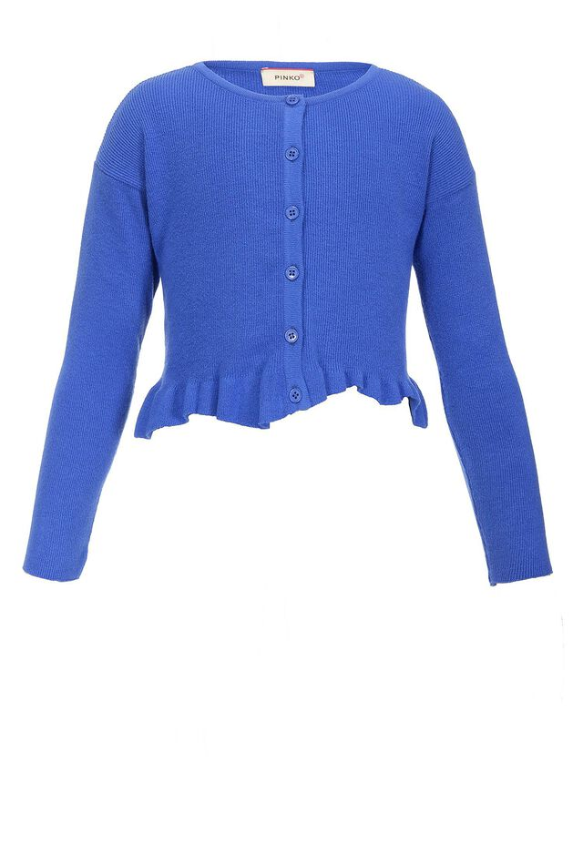 Cropped stretch viscose cardigan