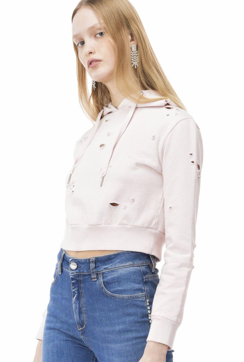 Distressed-look sweatshirt