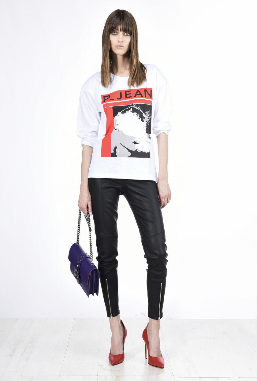 T-shirt a maniche lunghe in jersey cotone