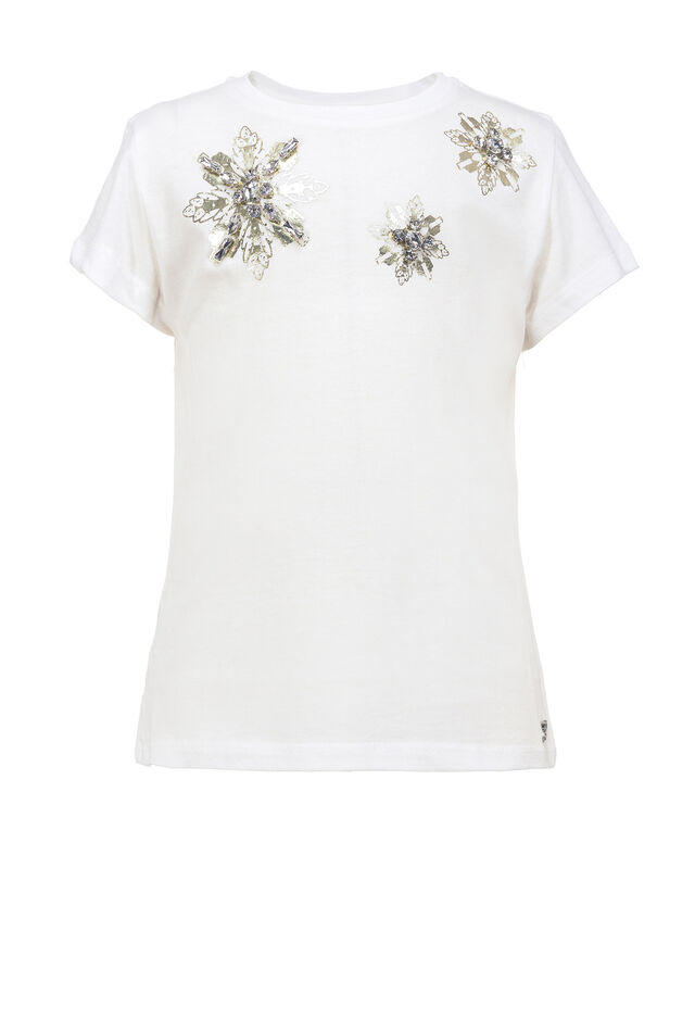 T-shirt with crystals