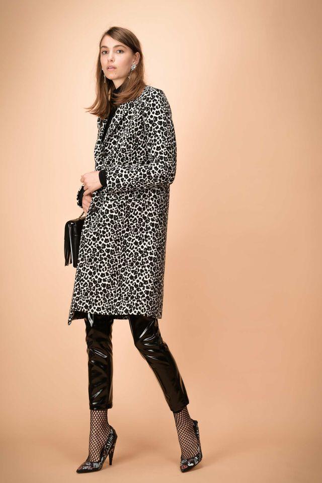 Long animal pattern coat