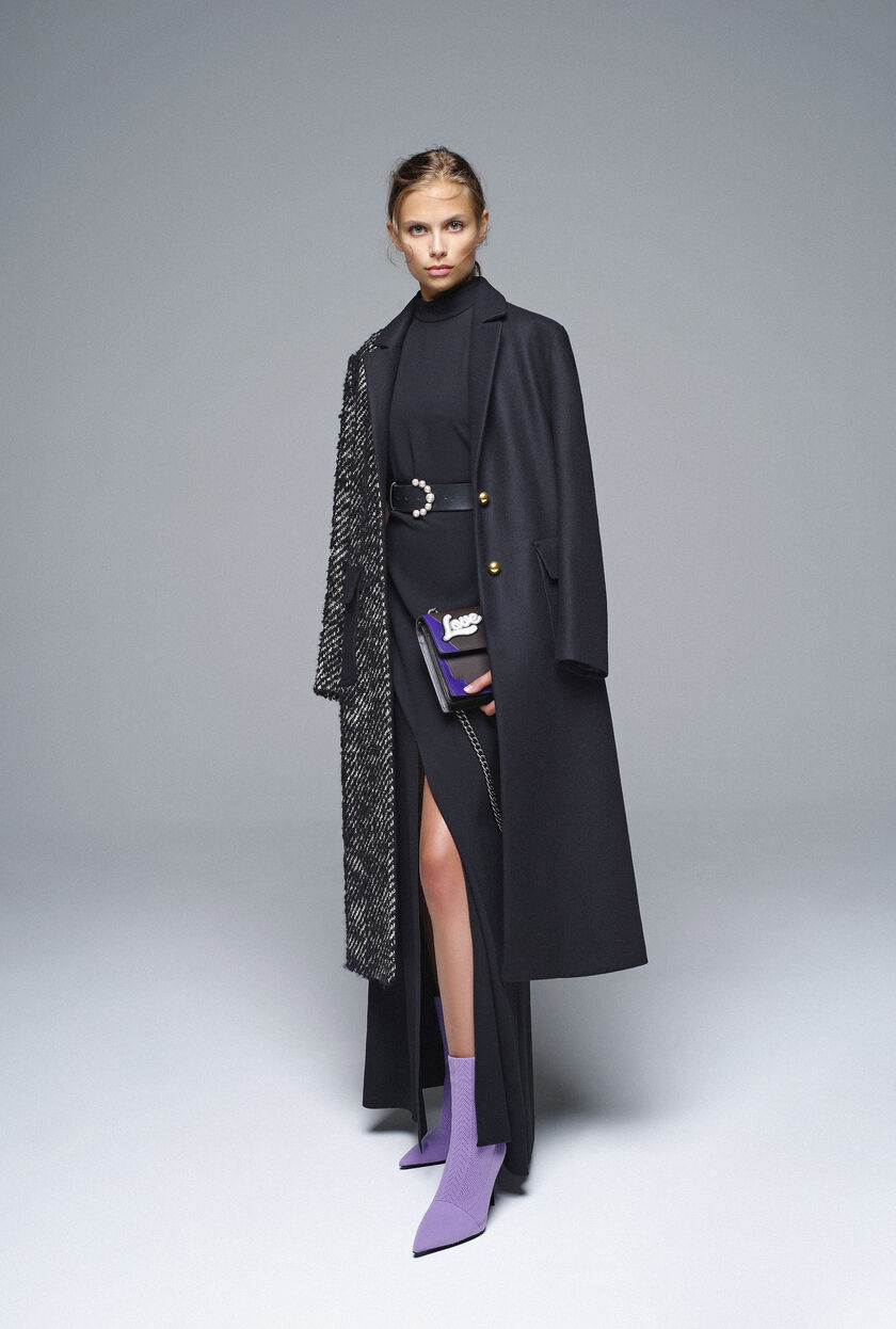 Wool broadcloth and twill coat