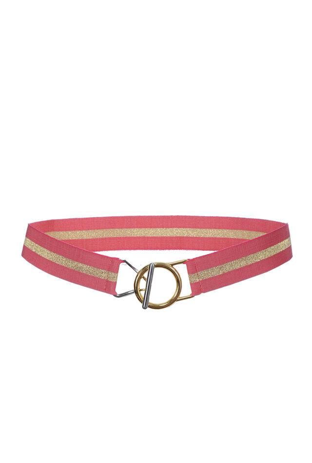 Striped elasticated belt