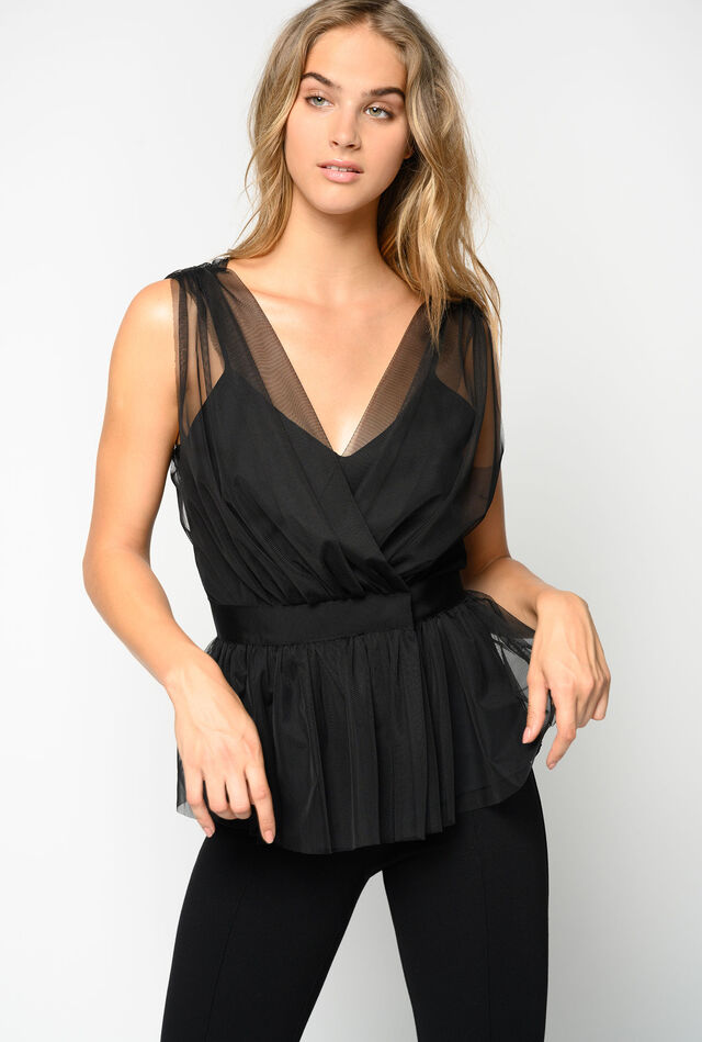 Top in tulle