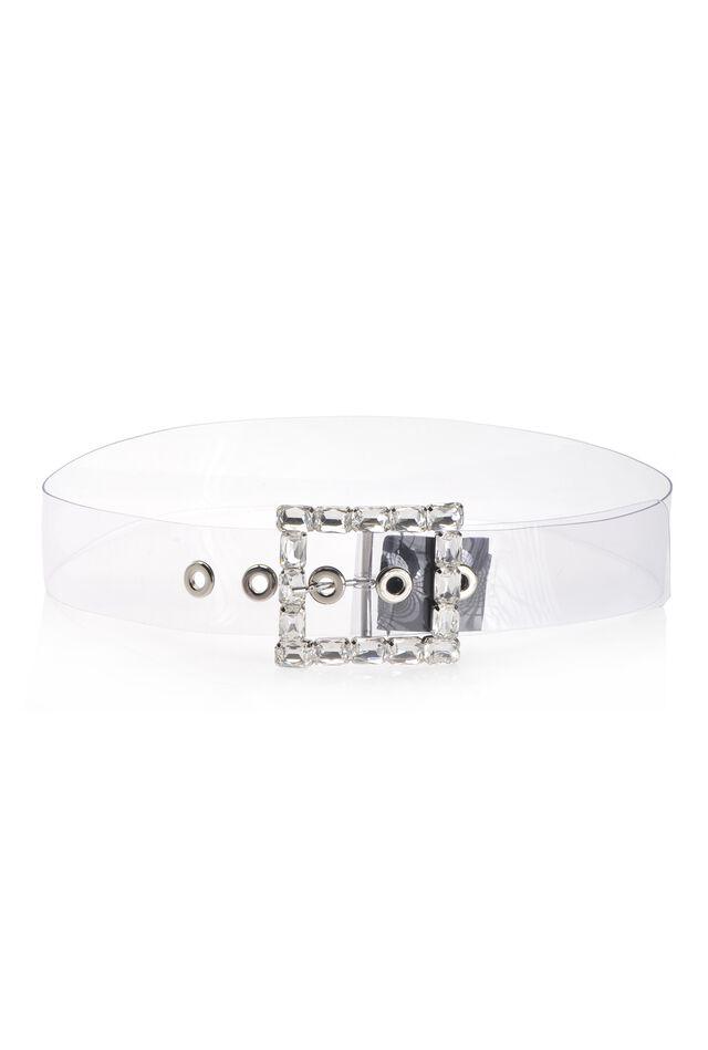 Cinturón en PVC transparente
