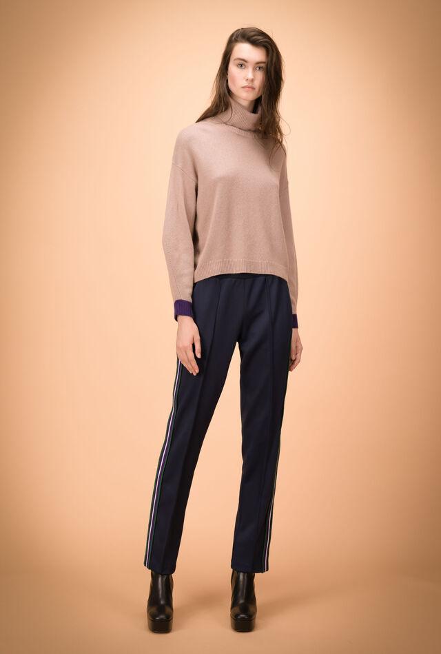 Pantalón de felpa técnica con bandas laterales
