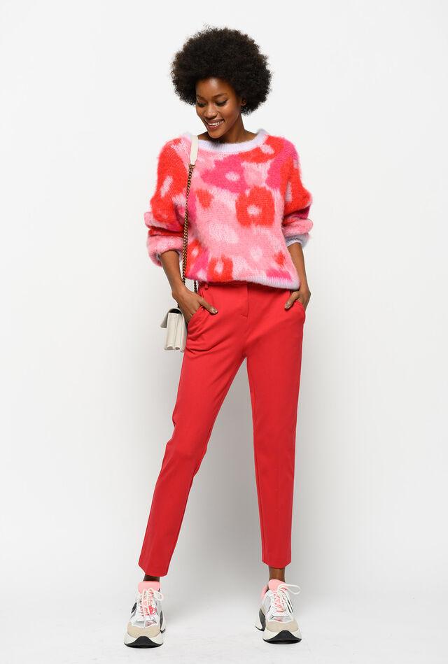 Milano stitch cigarette-fit trousers