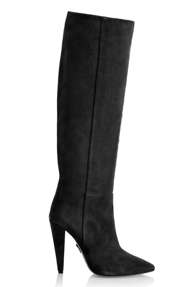 High boots in soft suede leather