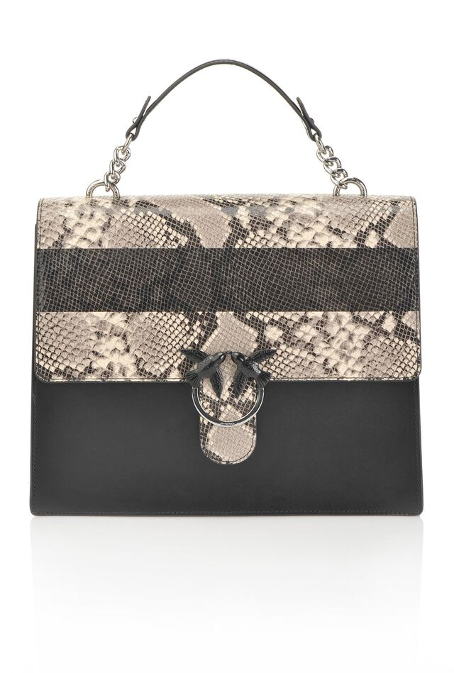 Python flap bag in python print leather ab67de5d897