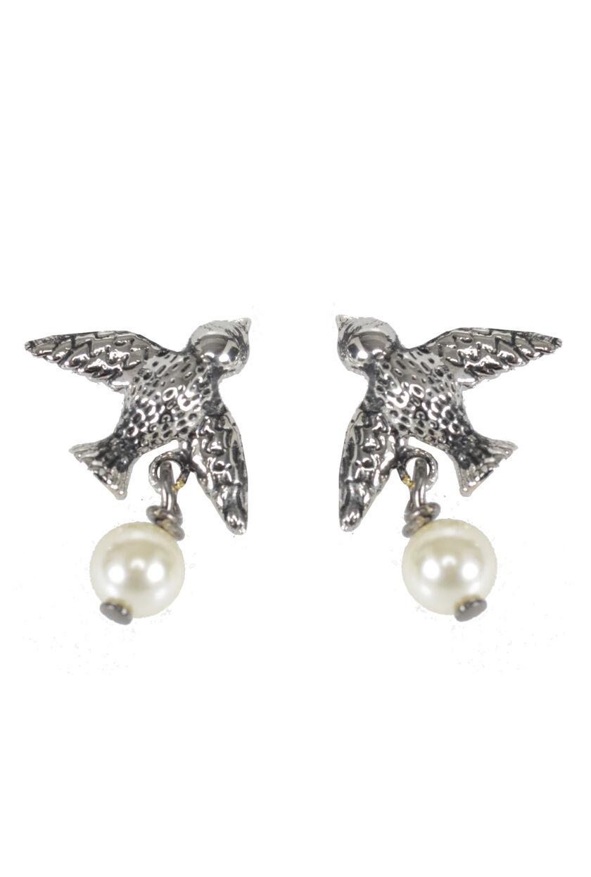 Beaded Swallow Earrings