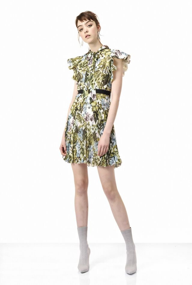 Jungle print georgette dress