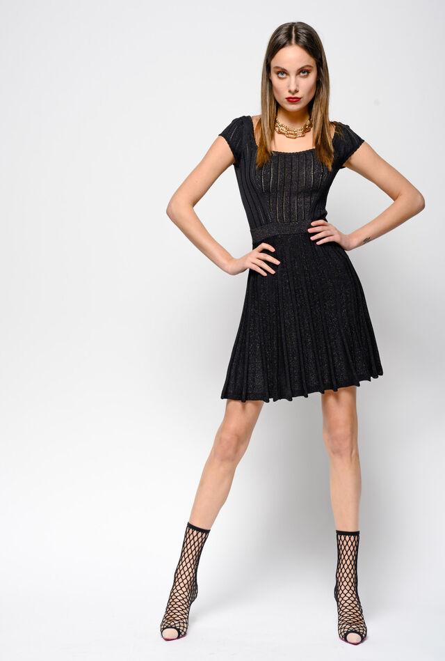 Dress in lurex knit