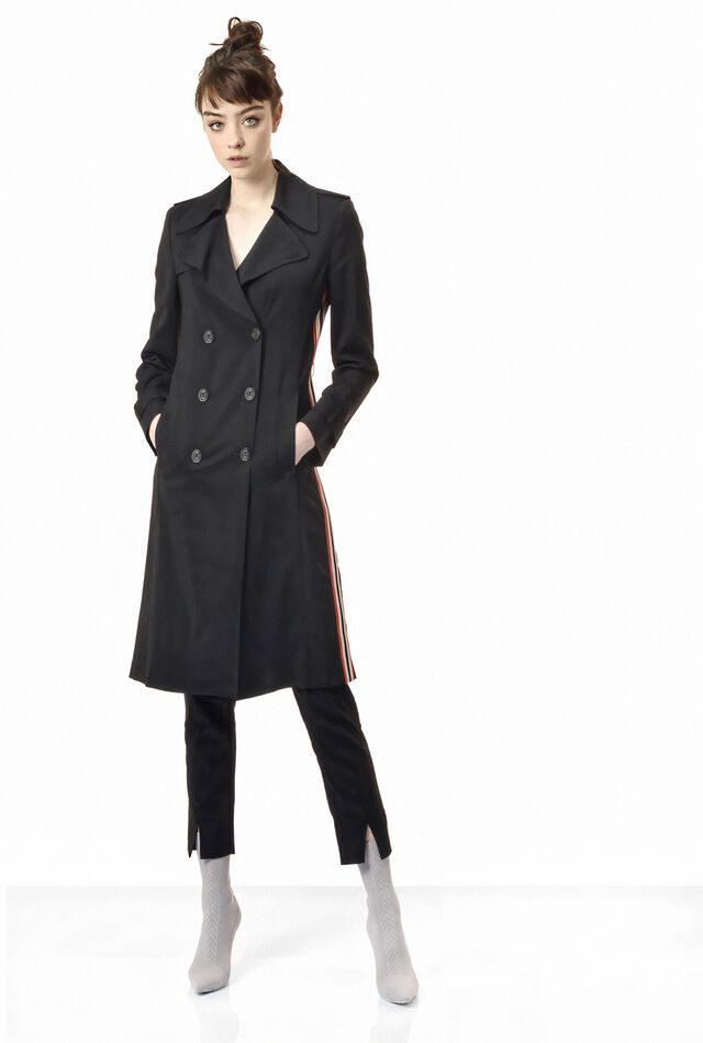 Trench coat in stretch viscose twill