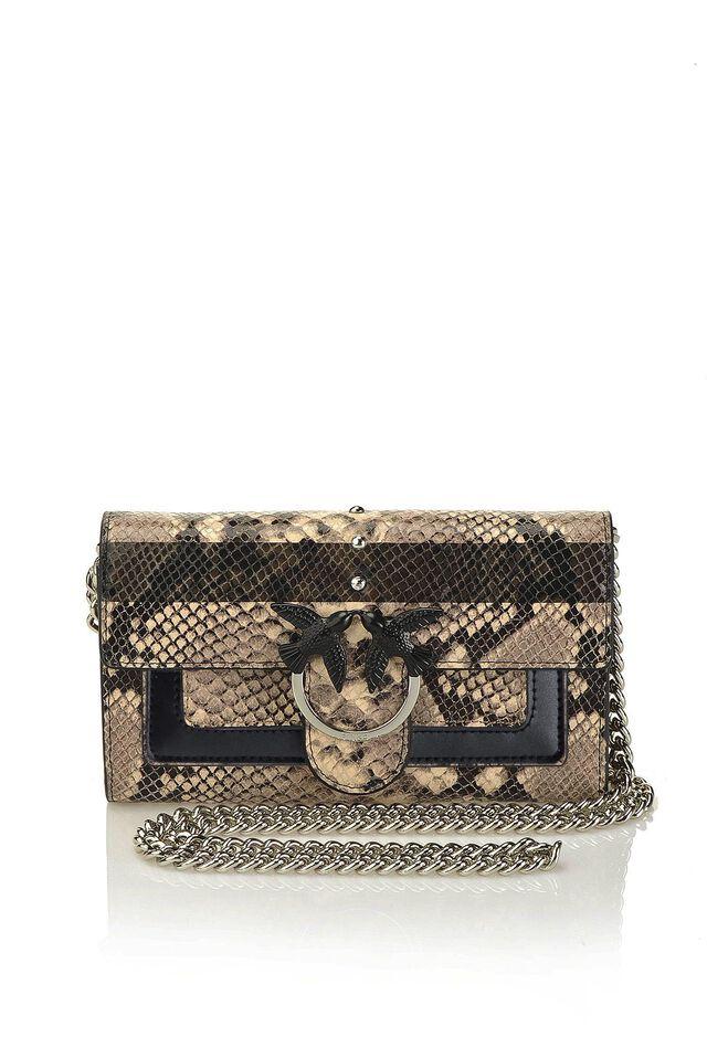 Python print leather wallet with shoulder strap