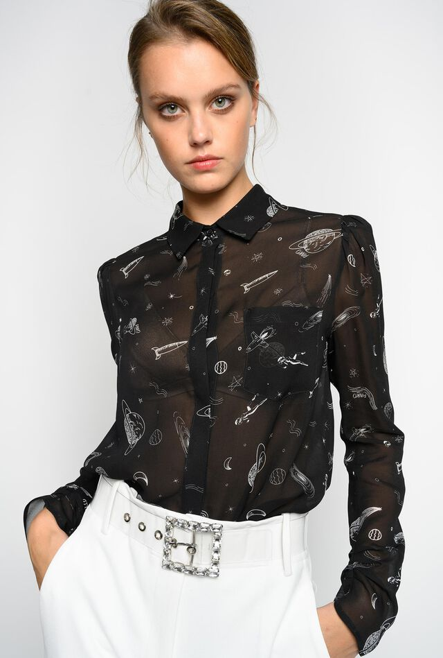 Shirt with planets print