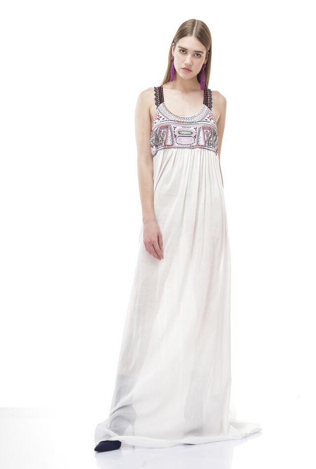 Robe longue en gaze de coton