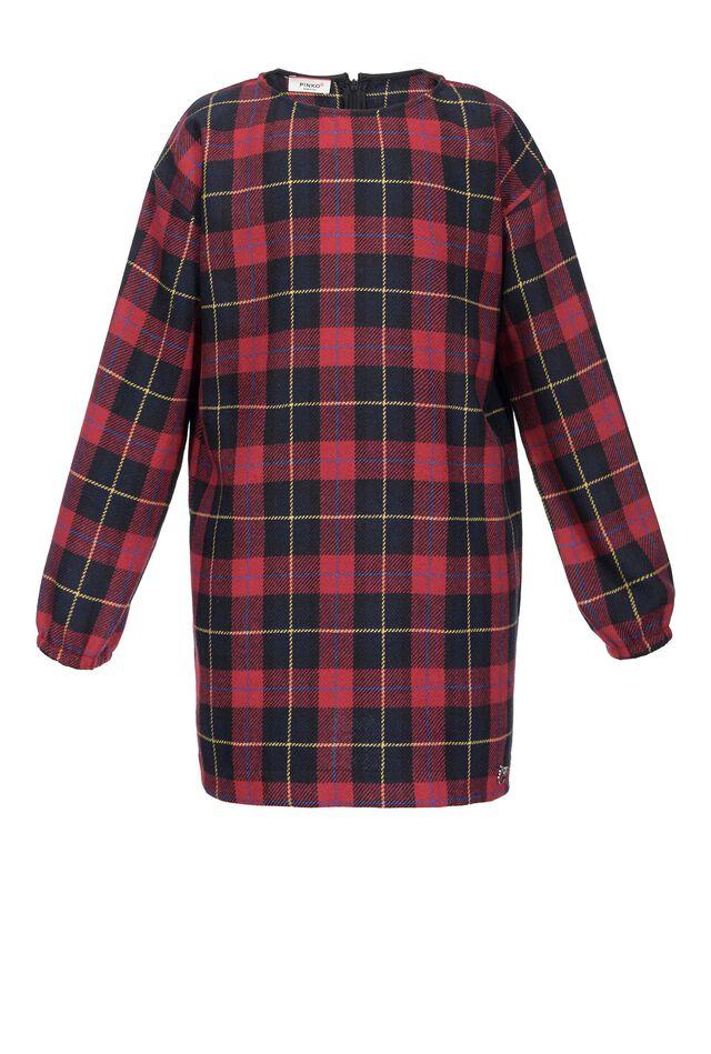 Check pattern dress