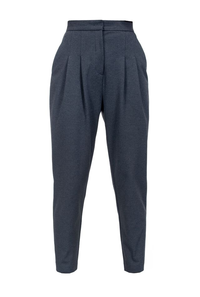 Melange Milano stitch trousers