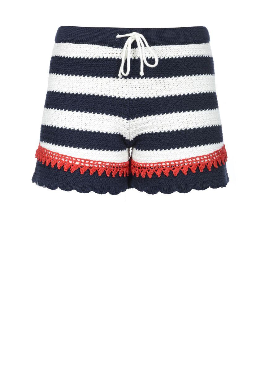 Shorts di cotone crochet