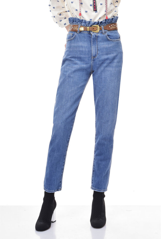 Jeans with flounce details