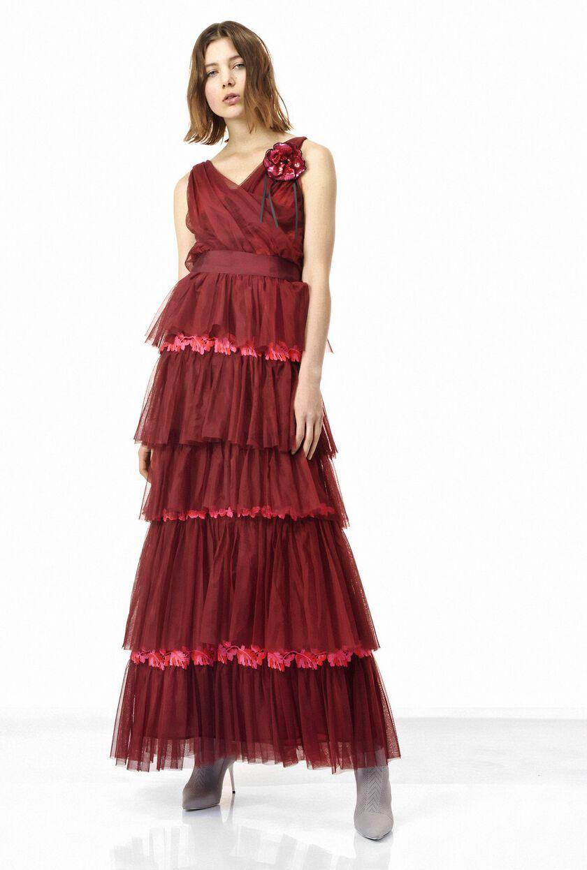 Tulle evening dress