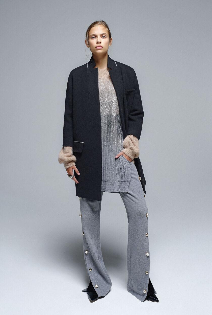 Wool broadcloth coat